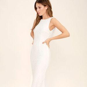 Lulus White Lace Maxi